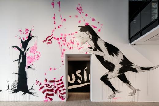 Walldrawing, collaboration with finnish artist Katja Tukiainen