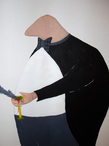 Wall drawing - detail