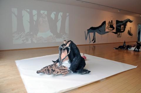 Rósa - sculpture and instllation