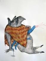 Blue intruder - drawing