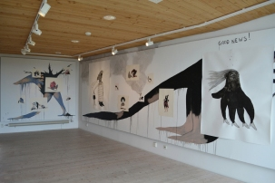 wall drawing - installation