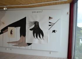 wall drawing - installation